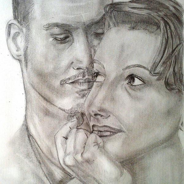 Juliette Binoche, Johnny Depp by maja135able
